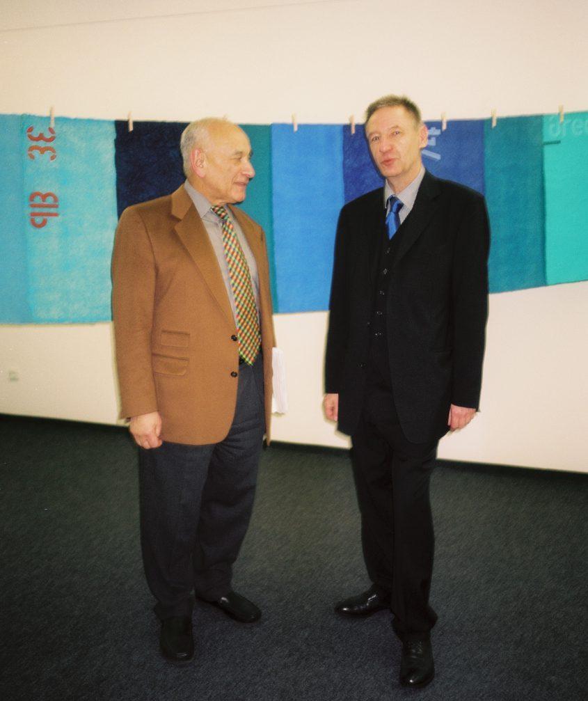 Eugen Gomringer und Thomas P. Kausel