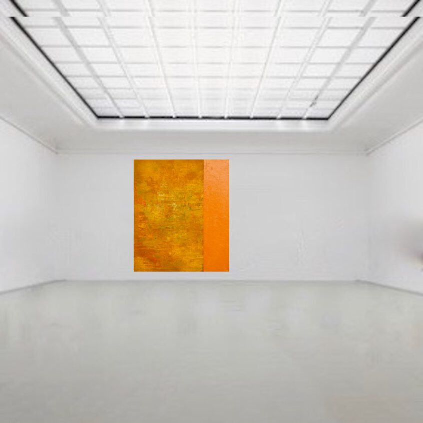 orange malerei